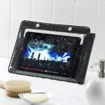 【mį】サンワダイレクト iPad タブレットPC 防水ケース お風呂 対応 iPad Air 10.1インチ汎用 スタンド機能 ストラップ付 200-PDA127 レビュー