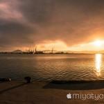 【mį】昨日の函館の夕日がとても綺麗だったので撮りに行ってみた